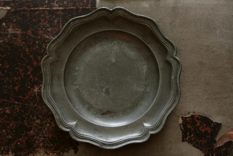アンティークエタンプレート ピューター皿 フランス 【Antiques Truffle 京都 鹿ケ谷】